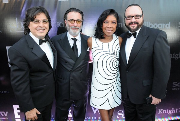 Rudy Pérez, Andy Garcia, Natalie Cole and Desmond Child