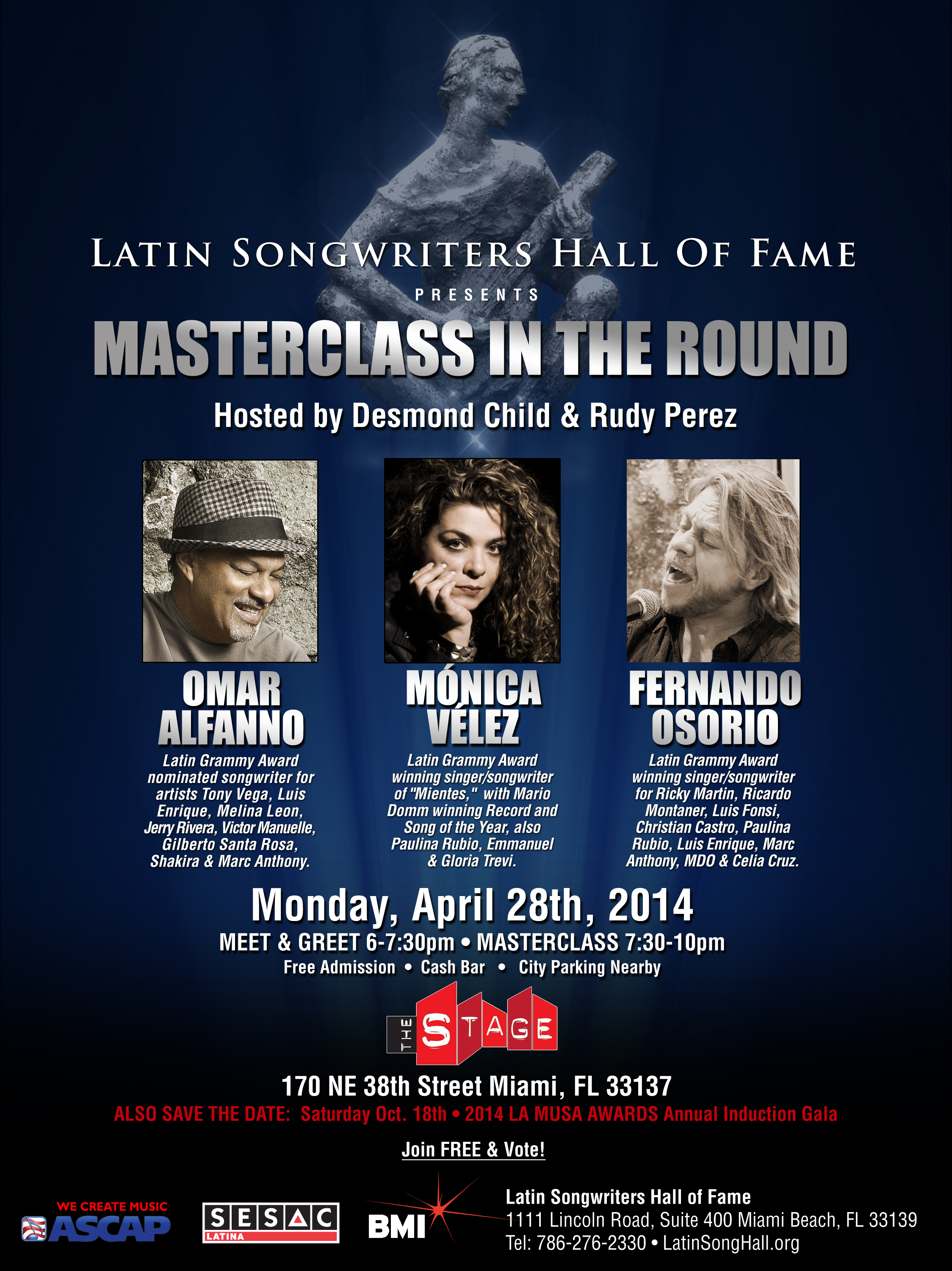 Masterclass in the round april 28th 2014 latin songwriters hall masterclass in the round april 28th 2014 m4hsunfo